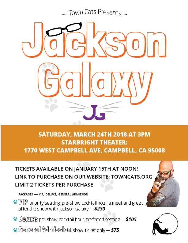 Jackson Galaxy At Starbright Theater: Saturday, March 24th 2018 3 PM